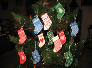 Set of 12 Stocking Ornaments