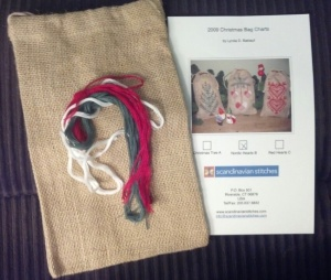 Nordic Hearts Christmas Bag