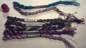 Metallic overdyed thread