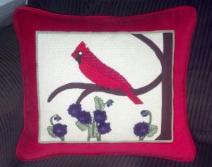 Cardinal pillow front