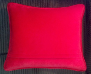 Cardinal pillow back