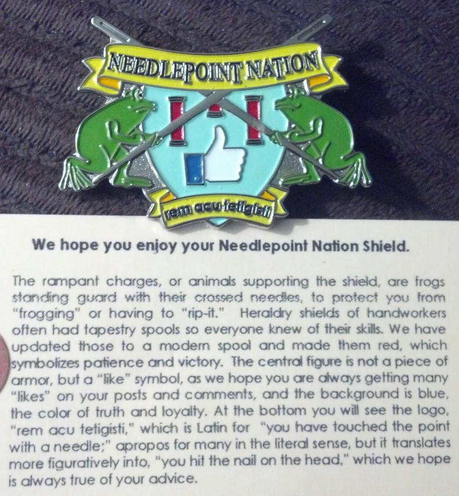 Needlepoint Nation Shield