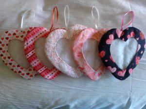 Heart Cloth Ornaments