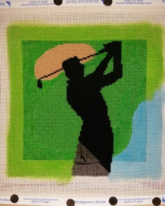 Golfer painted border