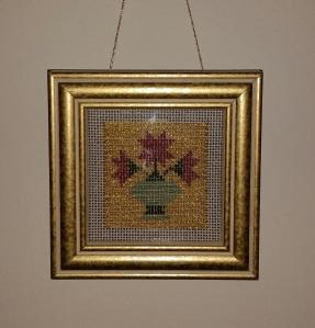 Or Nué Star Lily framed