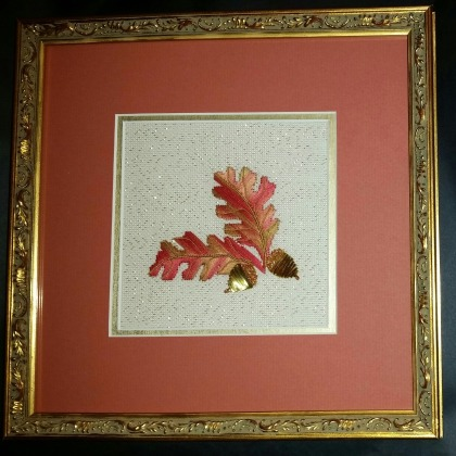Acorns, framed-1