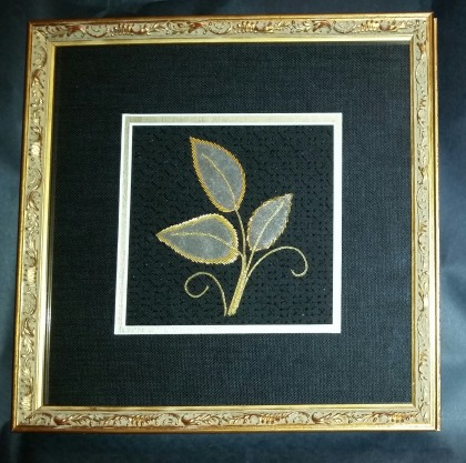 Three Leaves, framed