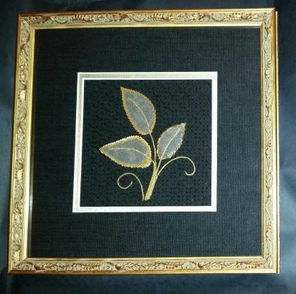 Three Leaves, framed